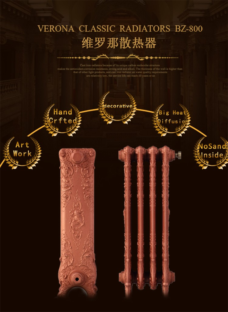 China supply factory hign quality and cheap hot water heater Home heating system cheap stone fireplace CAST IRON RADIATOR