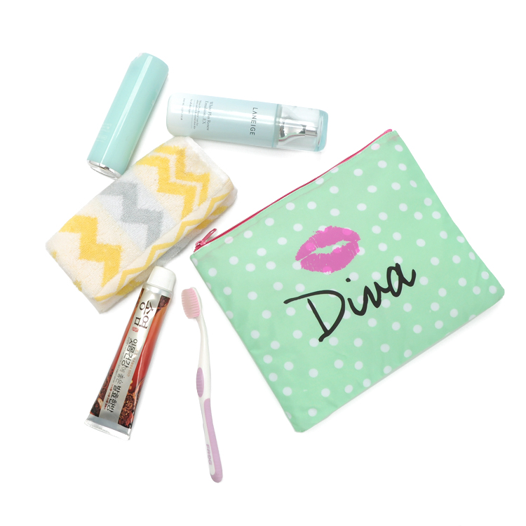 China supplier custom cheap small make up portable canvas cosmetic bag