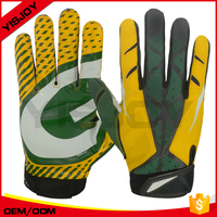 Football players team gloves football running back youth receiver