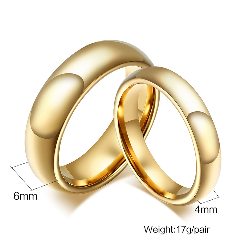 Latest Simple Couple Ring Set Gold Ring Designs for Boys Girl Engagement Tungsten Wedding Ring