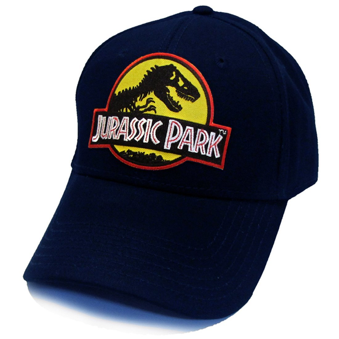 Jurassic Park Movie Logo Yellow Patch Baseball Adjustable Navy Cap Hat 4f51df9e68f5