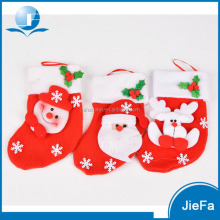 Mini christmas stockings,plush small Christmas gift bag deco
