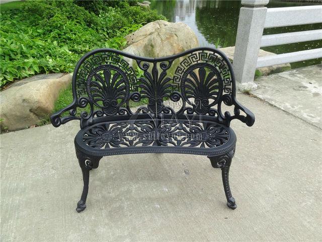 2 personne durable luxe en fonte d 39 aluminium loisirs jardin banc parc chaise salon de jardin. Black Bedroom Furniture Sets. Home Design Ideas