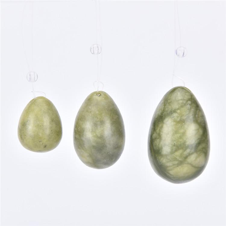 3 ชิ้นชุด Jade Yoni Eggs พร้อมคำแนะนำและเจาะกล่องหนึ่งกล่อง
