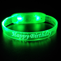 2019 Hot Selling Party Supplies Custom Wedding Decoration Sound Activated Led Bracelet