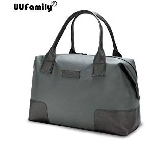 UU Family 2016 Oxford Autumn Travel Bag Weekend Bag Large Capacity Overnight Bag Men Waterproof Bag Women Duffel Travel Tote (green grey L)