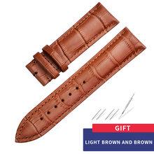 Carouse ремешок из натуральной кожи для наручных часов размер 12 13 14 15 16 18 19 20 21 22 24 мм черные часы браслет(Китай)
