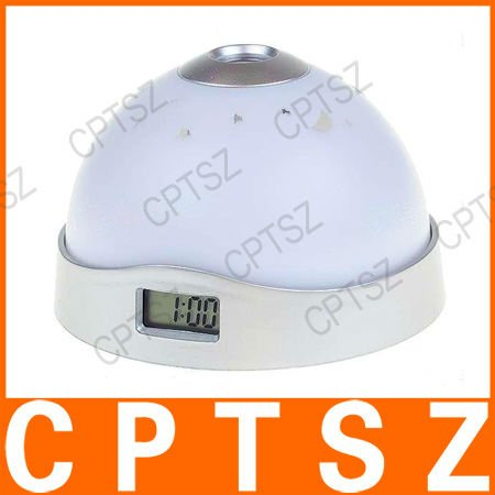 3 Colors Digital LED Nightlight Projector Clock with Alarm