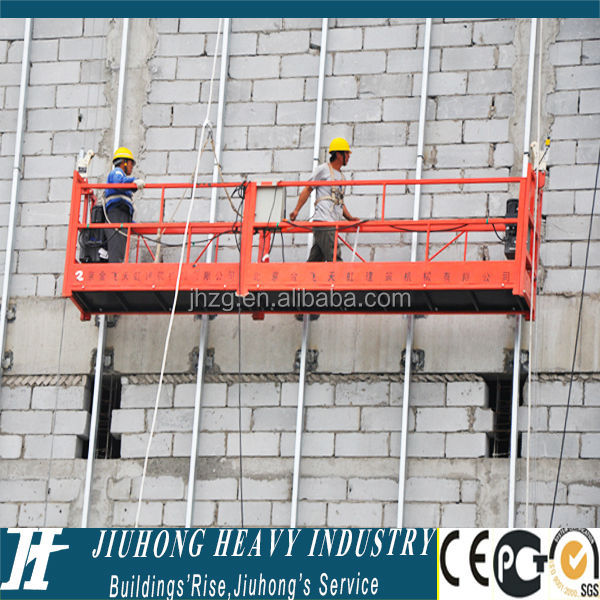 High Rise Building Painting ZLP630 Suspended Platform Construction Swing Stage Gondola