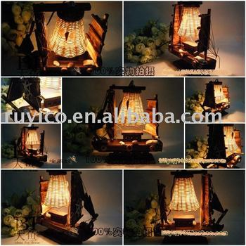 retro wood boat lamp christmas giftbirthday gifthome decoration