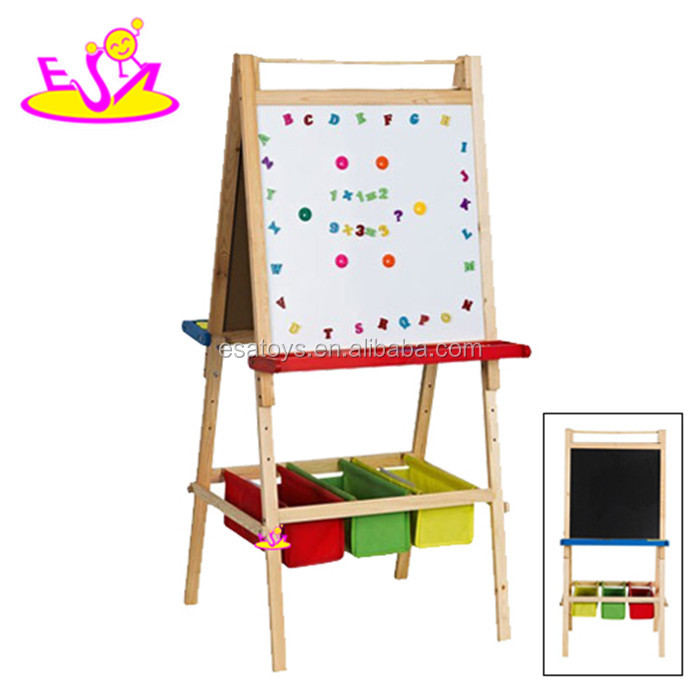 Cheap white and black kids writing board,Painting interactive white board,High quality wooden drawing board toy W12B015