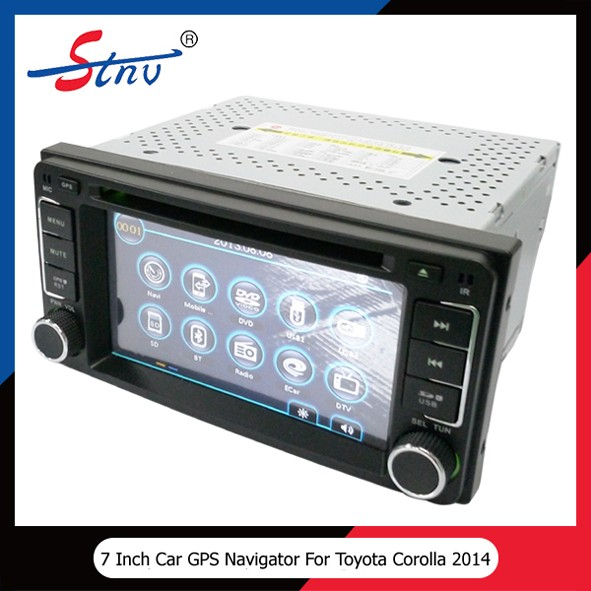 Car DVD GPS Windows CE 6.0 Car Audio System For Corolla EX 2013 With OEM GPS Navigator