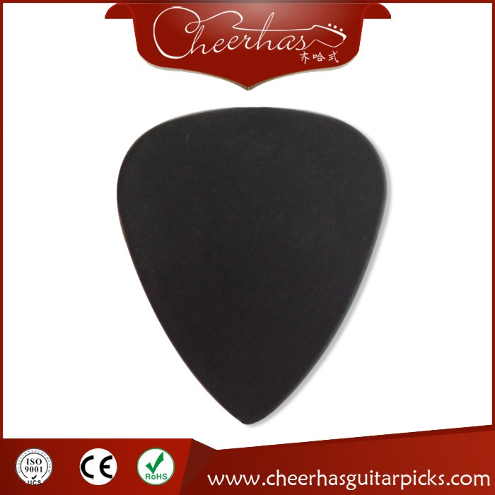 Pure black matte plastic guitar picks/plectrums without any printing