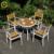 2019 wholesale wood picnic table modern outdoor garden chairs and table set