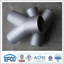 ASME Carbon Steel True Y Pipe Tee