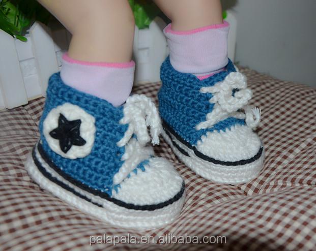 Handmade Crochet knitted baby Slippers Sneakers Booties