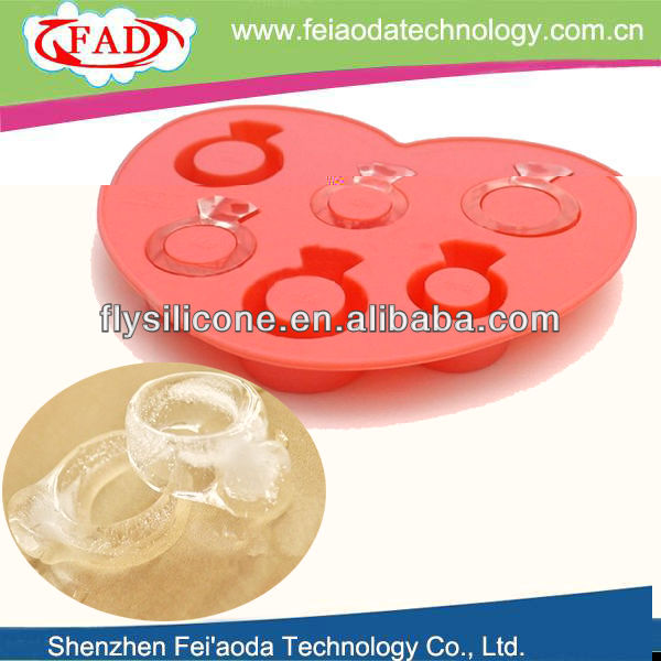 Multi diamond ring shapes silicone ice tray