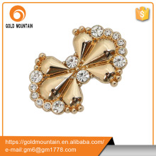 Fashion shoe buckles supplier rhinestones metal gold shoe hardware buckle