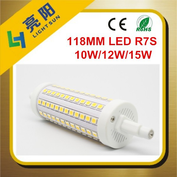 Shenzhen 360degree 1300lm Dimmable 118mm R7s Led 15w 12w