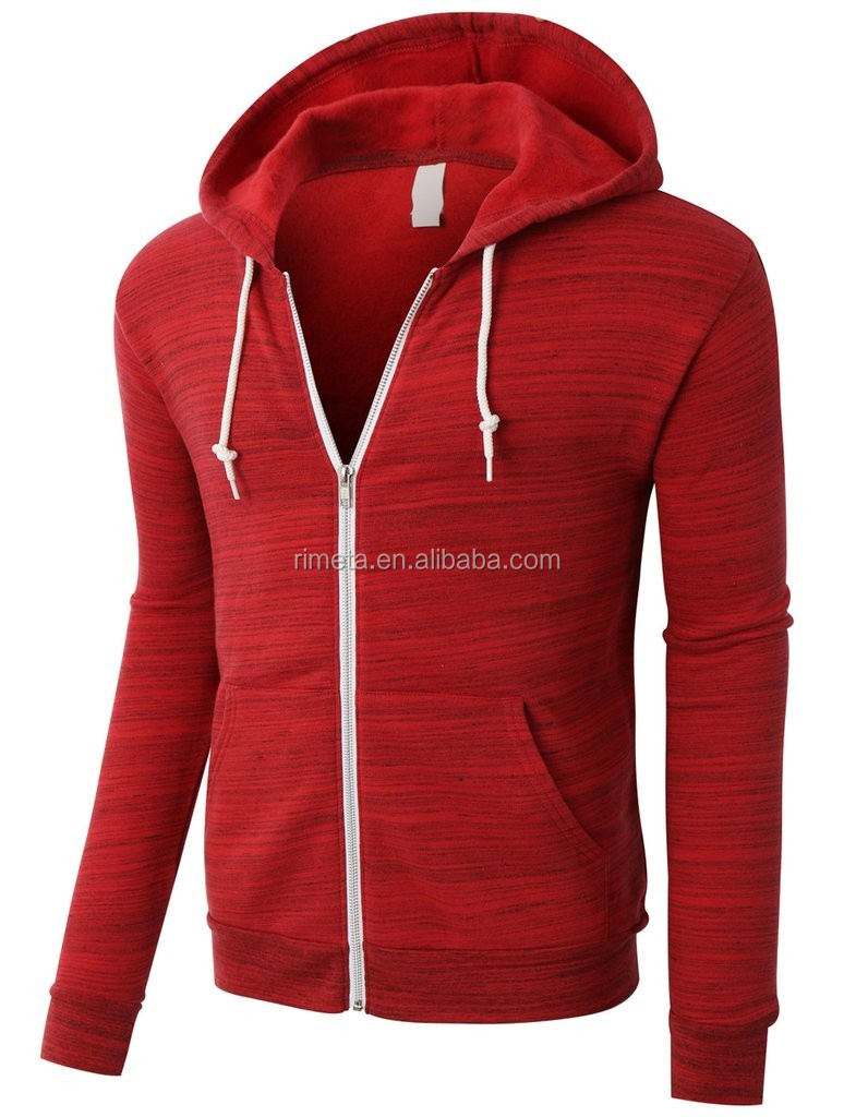 Men's fashion gym running hoody jacket sport tanks with zip up