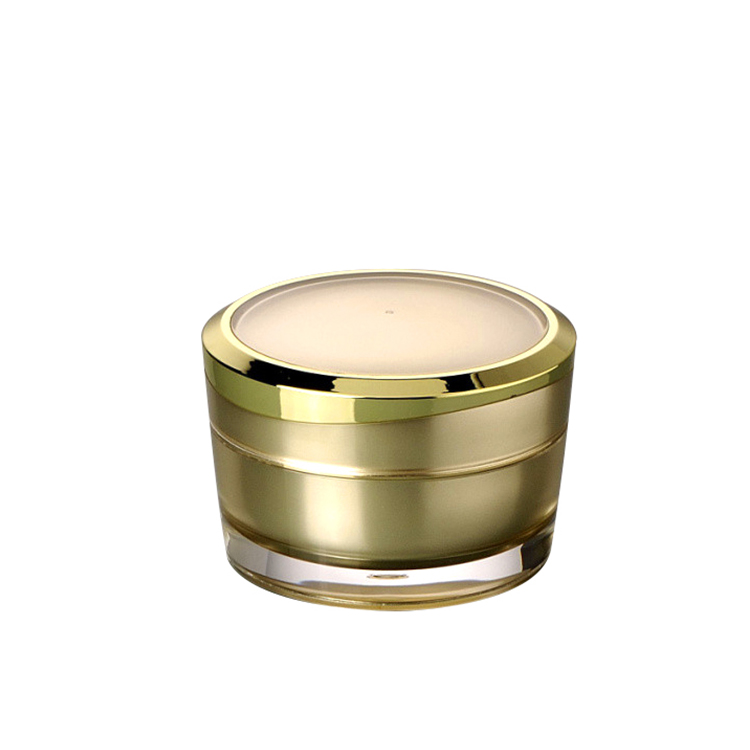 luxury gold empty round cosmetic 15g eye cream jar 30g 50g facial cream jar