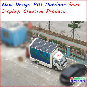 solar led display screen, p10 p5 solar outdoor display.