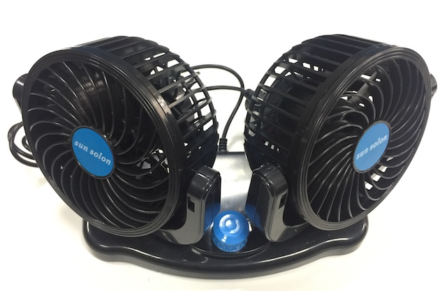 Dual Double Car Interior Fans Adjustable 360 Degree Rotation 12V Car Air Cooling Summer Fan