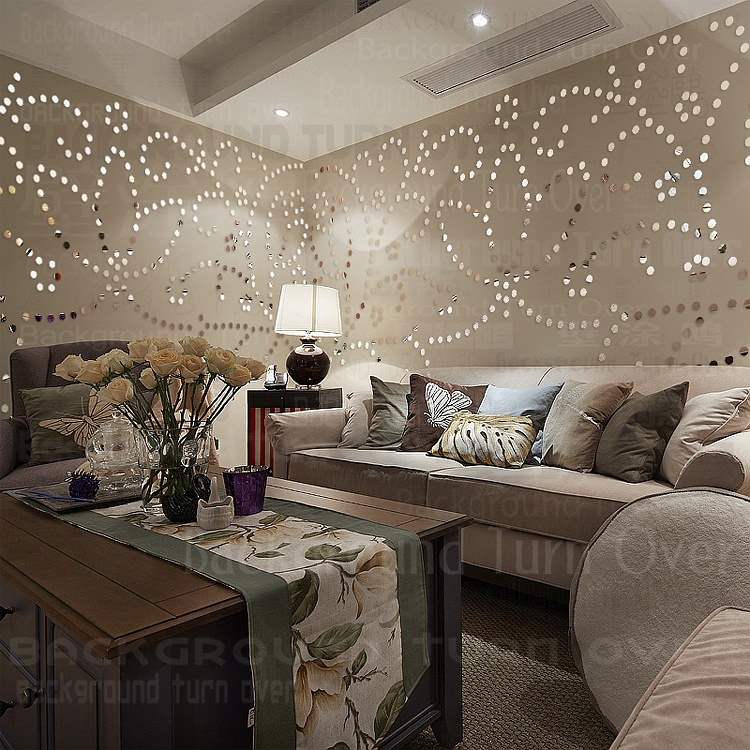buy diy pastoral 3d flower wall sticker living room girl room bedroom hair. Black Bedroom Furniture Sets. Home Design Ideas