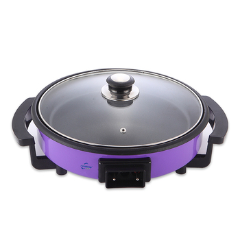 Round Aluminum Electric Skillet Pizza Pan Cookware Frying Pan