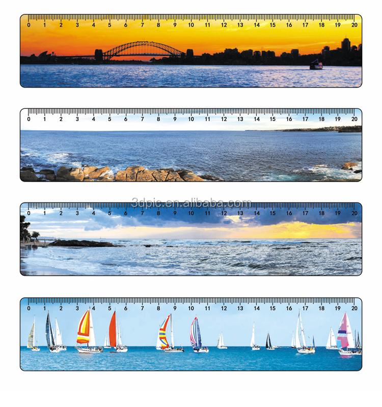3d lenticular ruler for kids
