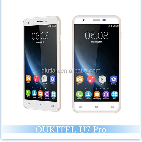 Original OUKITEL U7 PRO MTK6580 1.3GHz Quad Core 5.5 Inch 2.5D HD Screen Android 5.1 3G Smartphone