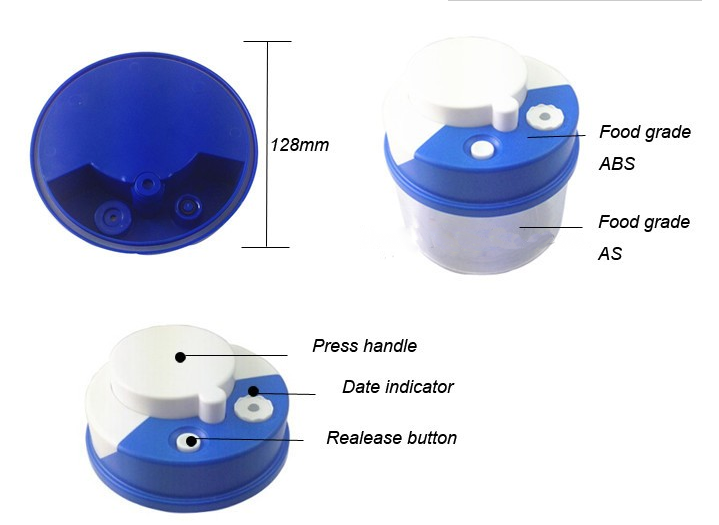 dab608820ff Plastic Push Type Vacuum Food Storage Box - Buy Storage Box