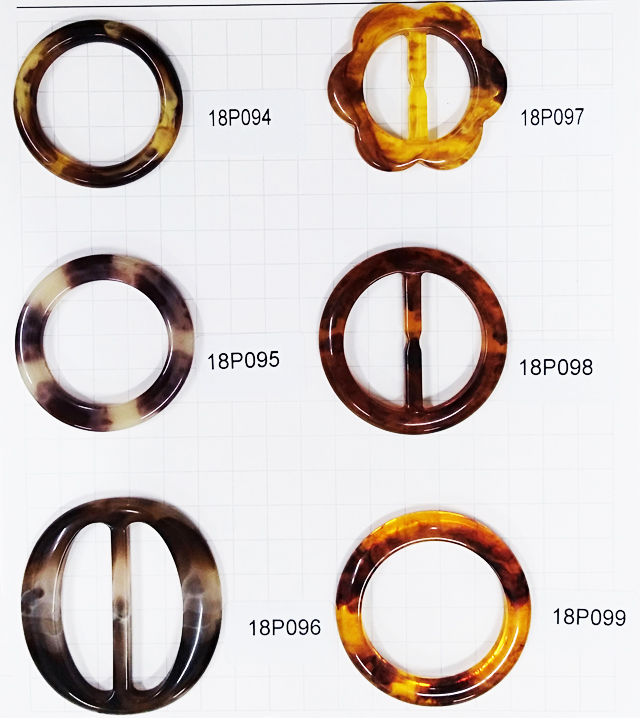 2019 Fashion design Resin/Acrylic Adjustable belt ring <strong>Buckles</strong> For Belt Eco-Friendly