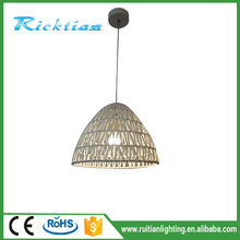 hemp rope electric home goods lamps hanging light