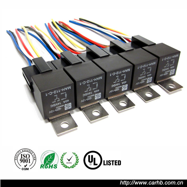 Plastic Replacing Parts Relay Socket Harness 5 Pin 5 Wire