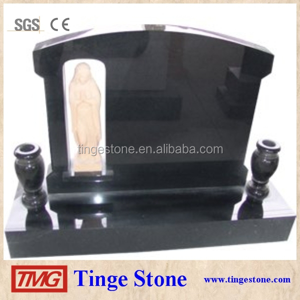 Japanese tombstone black granite grave monuments from TMG-Tingestone