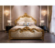 Handmade carving of luxury european style high - leather material princess bed