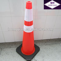 Indonesia Reflective Flexible Orange PVC Road Traffic Safety Cone