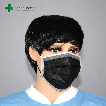 disposable face mask medical black