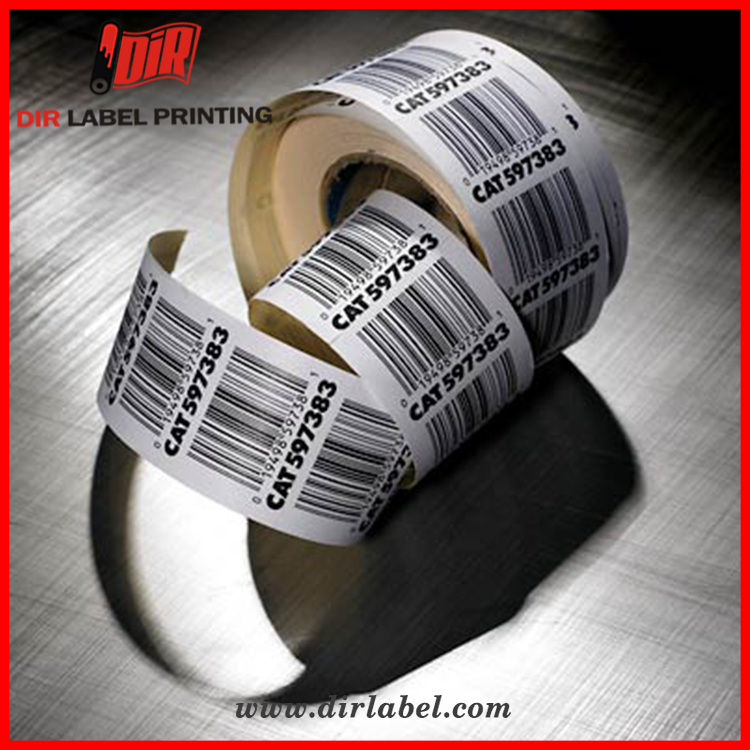 Printing anti counterfeiting strong self adhesive roll barcode label