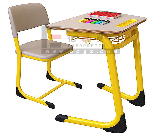 School Set Furniture Table and Chairs / Wholesale China / Hot Sale School Single Desk Furniture