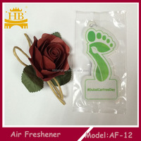 Hot selling rose smell paper car air freshener