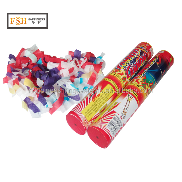 High quality CE passed 50cm length party wedding handheld Confetti Cannon