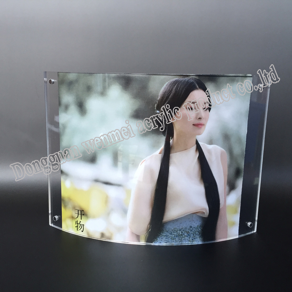 curving acrylic photo frame,acrylic picture frame, funny acrylic photo frame