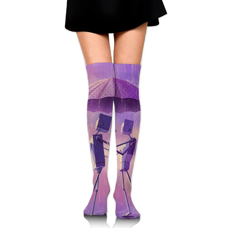 Zaqxsw Love Robot Women Cool Thigh High Socks Over The Knee Socks For Teen Girls