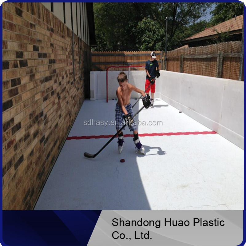 HUAO Synthetic Ice For Hockey/inflatable Backyard Ice Rink/skating Rink  Floor