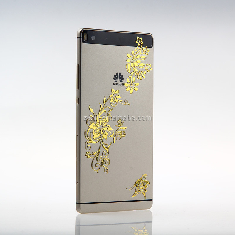 Gold imitation planting metallic mobile phone sticker for all model phone