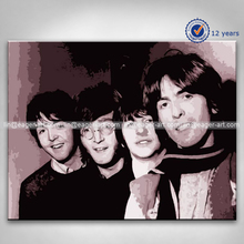 High Quality Pop Art Modern Handmade Wall Art Decor Popular The Beatles Brand Oil Painting