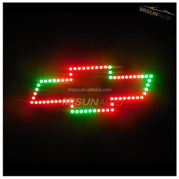 super bright auto light emblem badge light flow color led car logo