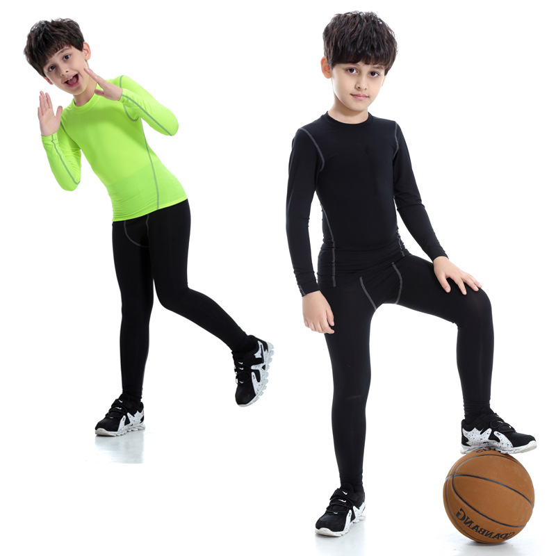New Arrival Boys Long Sleeve Compression Soccer Practice T Shirt Absorb <strong>Sports</strong> Tops